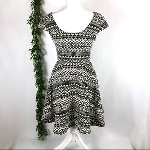 Mossimo aztec fit and flare dress